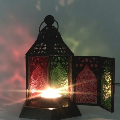 Handmade Table-Top Candle Lamp Decor