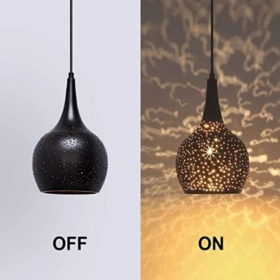Hollow-Carved Shade Pendant Light
