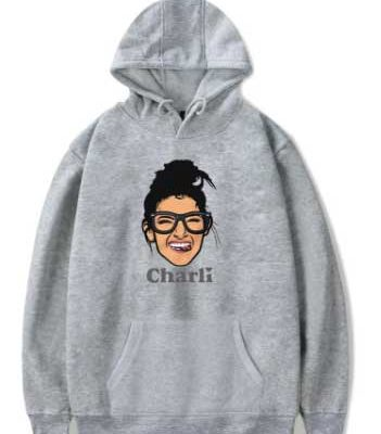 Charli D'amelio Face Cartoon Hoodie