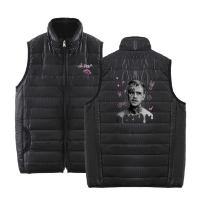 Lil Peep Sleeveless Graphic Bomber Jacket