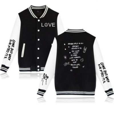 Lil Peep Love Baseball jacket