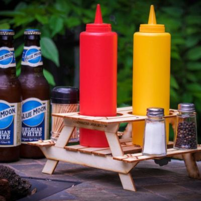 Beer Holder or Condiment Rack, A Mini Picnic Table 3D Kit