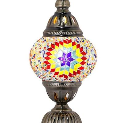 Moroccan Stained Glass Table Lamp