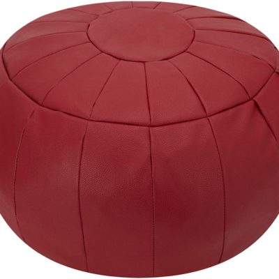 Leather Pouf Cover