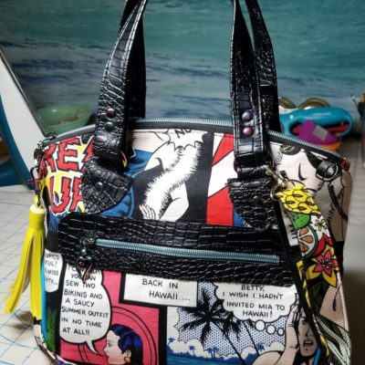 Comic handmade handbag
