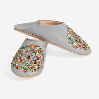 Moroccan Handmade Slippers Leather Women's Babouche