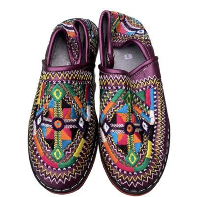 Moroccan Traditional Embroidered Slippers